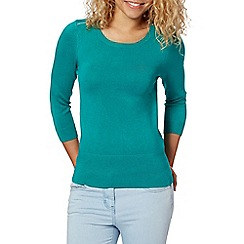 Red Herring - Green zip shoulder jumper