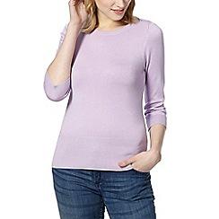 Red Herring - Lilac zip shoulder jumper