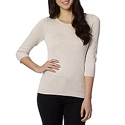 Red Herring - Natural zip shoulder jumper