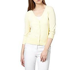 Red Herring - Light yellow ribbed V neck cardigan