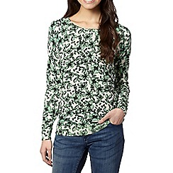 Red Herring - Green floral printed jumper