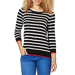 Red Herring - Black striped punched jumper