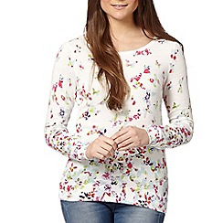 Red Herring - Ivory butterfly print jumper