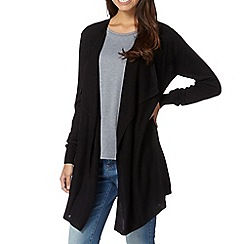 Red Herring - Black waterfall cardigan