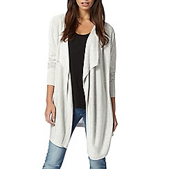 Red Herring - Light grey waterfall cardigan