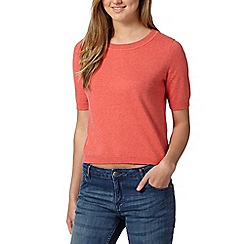 Red Herring - Coral popper back jumper