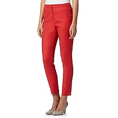 Red Herring - Dark peach slim leg trousers