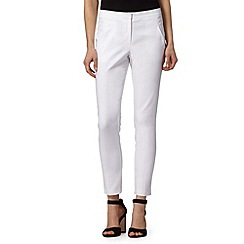 Red Herring - White slim fit trousers
