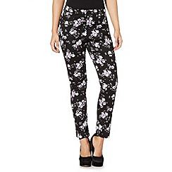 Red Herring - Black floral print trousers