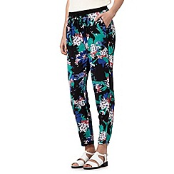 Red Herring - Black digital floral jogging bottoms