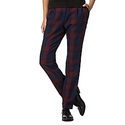 Red Herring - Navy checked trousers