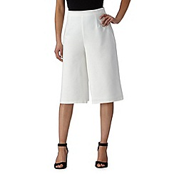 Red Herring - White zip culottes