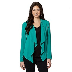 Red Herring - Light green drape front jacket