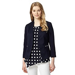 Red Herring - Navy textured edge to edge blazer
