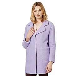 Red Herring - Lilac wool blend drop shoulder coat
