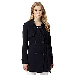 Red Herring - Navy soft trench coat