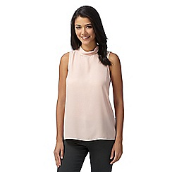 Red Herring - Light pink chiffon high neck top