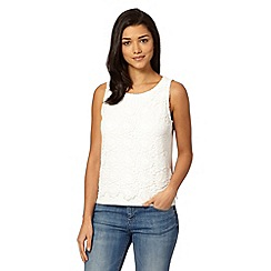 Red Herring - Ivory lace front shell top