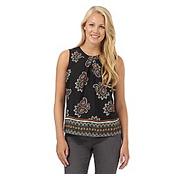 Red Herring - Black paisley siren shell top