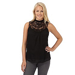 Red Herring - Black crochet top