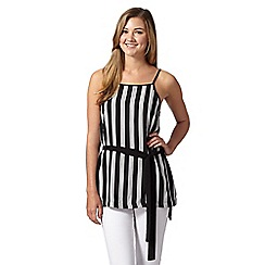 Red Herring - Black striped sleeveless tunic