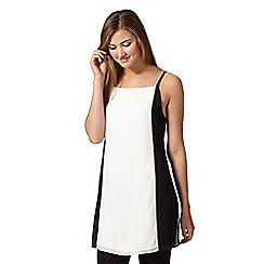Red Herring - White colour block strappy tunic