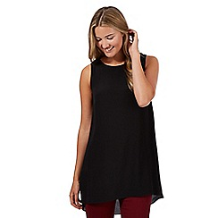 Red Herring - Black side split tunic top