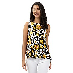 Red Herring - Yellow floral split back top