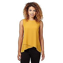 Red Herring - Mustard asymmetric layered top