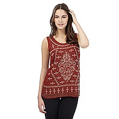 Red Herring - Orange embellished vest