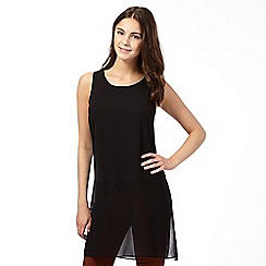 Red Herring - Black longline mixed tunic