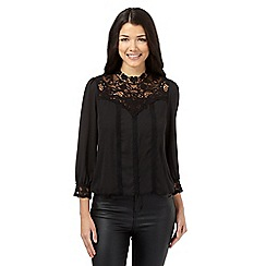 Red Herring - Black 'Victoriana' blouse