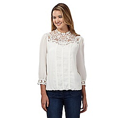 Red Herring - White victoriana blouse