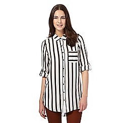 Red Herring - Ivory striped longline shirt