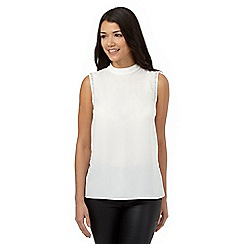 Red Herring - White diamond trim shell top