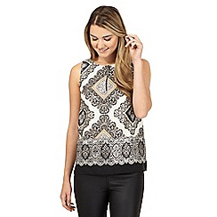 Red Herring - White diamond print sleeveless top