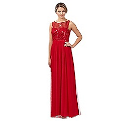 Red Herring - Red sequin mesh maxi dress