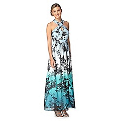 Red Herring - Blue floral ombre maxi dress