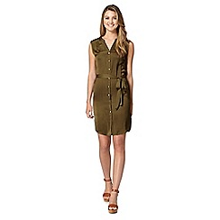 Red Herring - Khaki utility dress