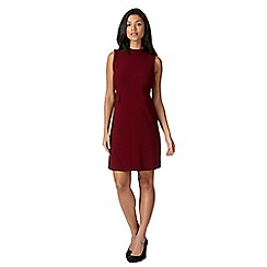 Red Herring - Wine 1960s style crepe shift dress