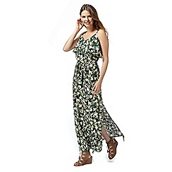 Red Herring - Green tropical print maxi dress