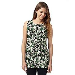 Red Herring - Green tropical print belted tunic