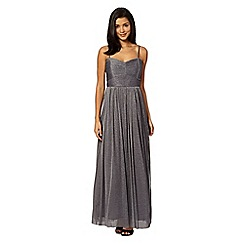 Red Herring - Metallic bandeau maxi dress
