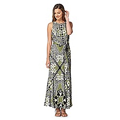 Red Herring - Green valencia print maxi dress