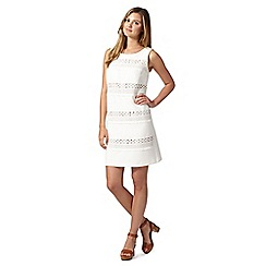 Red Herring - White striped lace shift dress
