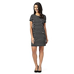 Red Herring - Black checked zip mini dress
