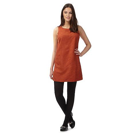 Red Herring - Dark orange suedette tunic dress