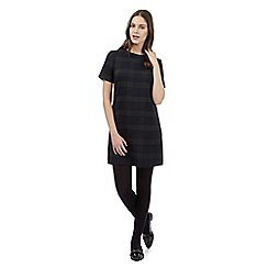 Red Herring - Black checked shift dress
