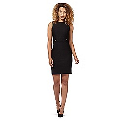 Red Herring - Black utility shift dress