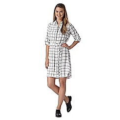 Red Herring - White checked shirt dress